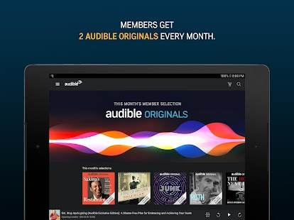 Audiobooks from Audible Screenshot