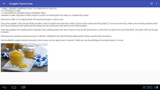 Amazing baby food recipes aplicaciones de android en google play amazing baby food recipes miniatura de captura de pantalla forumfinder Images