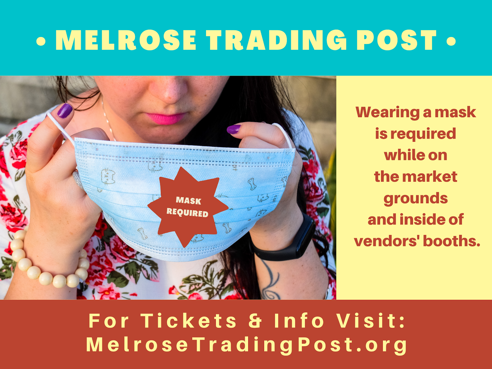 Melrose Trading Place Mask Required Flyer