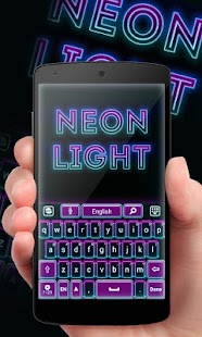 Neon Lights GO Keyboard Theme - náhled