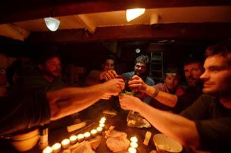 Photo: Anniversaire de Steph en direct du leenan, au menu : beaufort importé par le reste de l'équipe et paté maison !