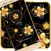 Golden flower luxury theme