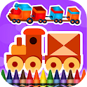 Coloring Book Trains icon