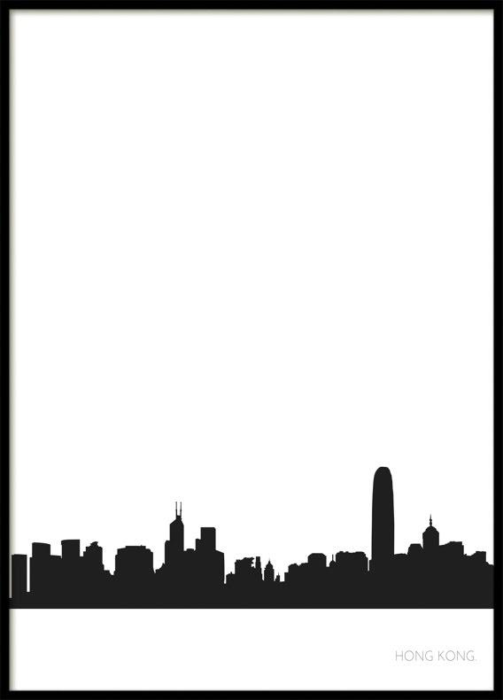Hong Kong Stadssiluett, Poster