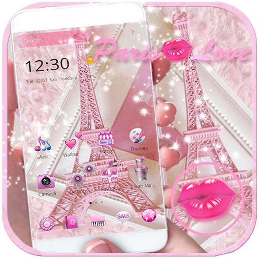 Theme Pink Paris Eiffel Tower file APK for Gaming PC/PS3/PS4 Smart TV