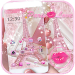 Theme Pink Paris Eiffel Tower Icon