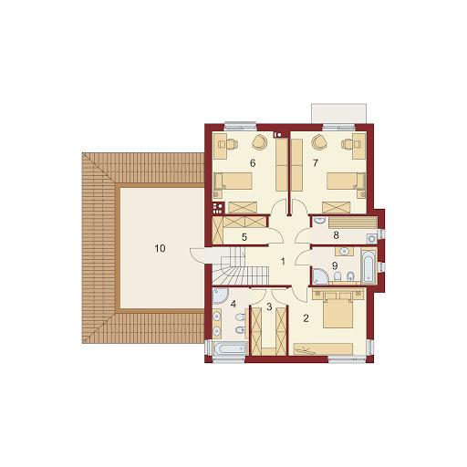 Domena 310 B - Rzut piętra