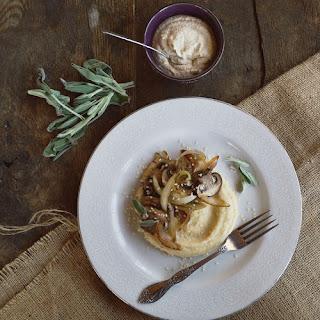 Creamy Polenta with Smoky Mushrooms and Caramelized Onions