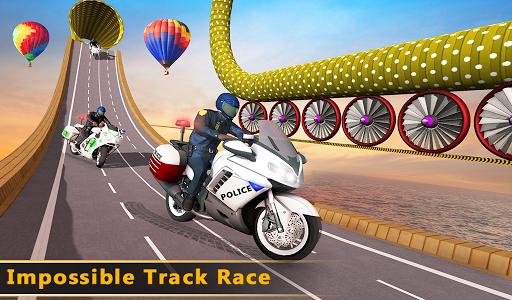 Police Bike Mega Ramp Impossible Bike Stunt Games painmod.com screenshots 19