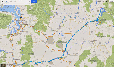 Photo: June 16: Driving from Portland to Sandpoint, Idaho, through basically all of Washington state.