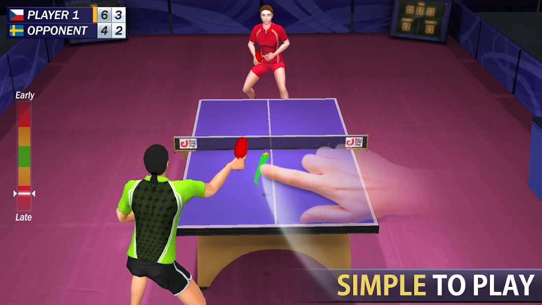 Table Tennis Android App Screenshot