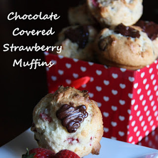 Chocolate Covered Strawberry Muffins