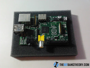 Photo: Top view of the Raspberry Pi