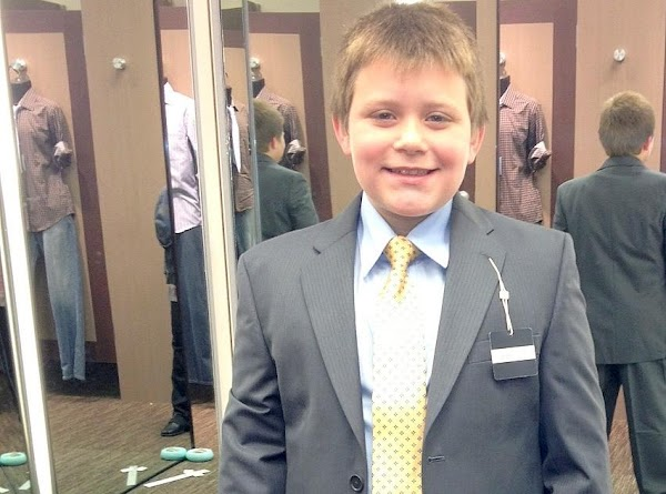 My youngest nephew Noah who is 9 yrs old came to help with all...