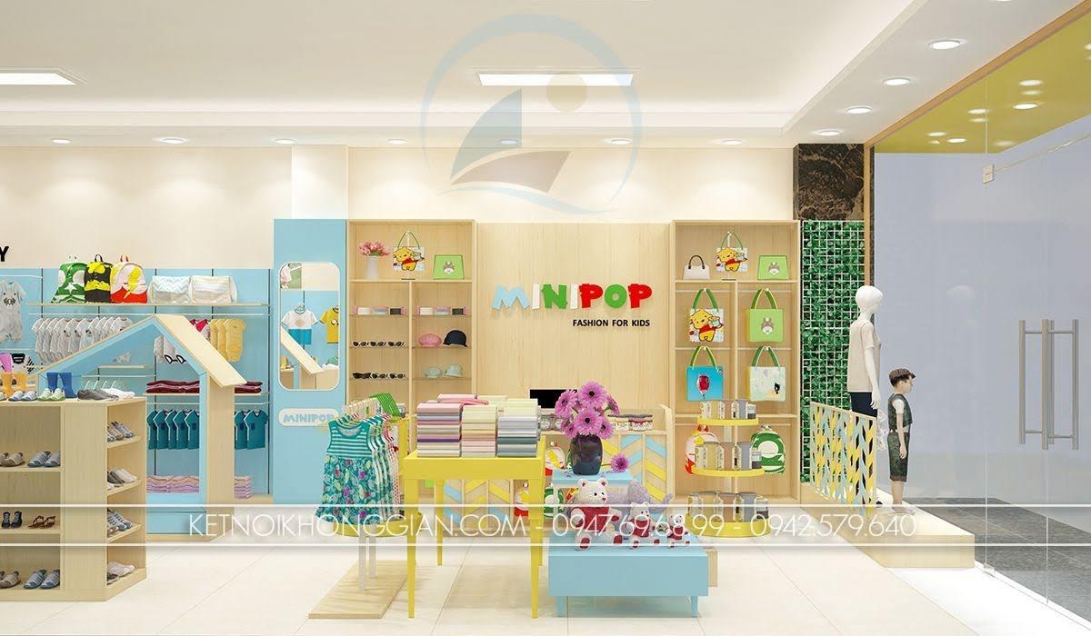 thiết kế shop thời trang trẻ em tinh tế