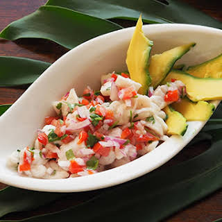 Costa Rican Ceviche with Tortilla Chips.