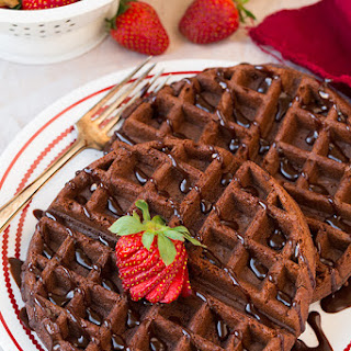 Chocolate Cake Mix Waffles (only 4 Ingredients).
