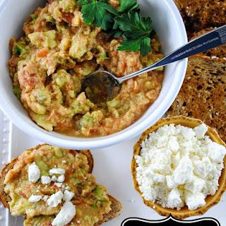 Mediterranean Avocado and Chickpea Toast with Feta Cheese Recipe
