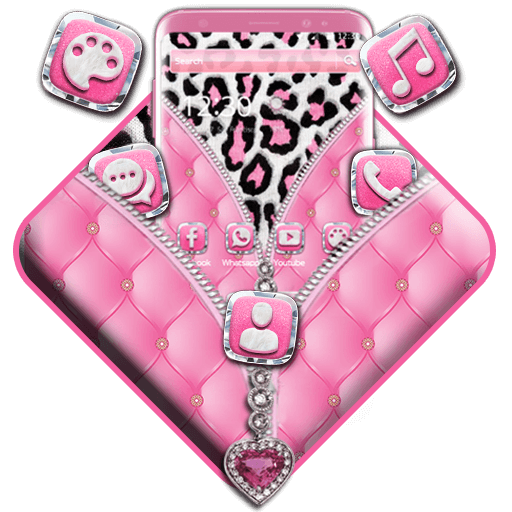 Pink Leopard Zipper Theme