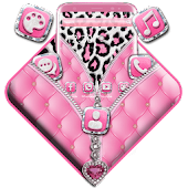 Pink Leopard Zipper Theme