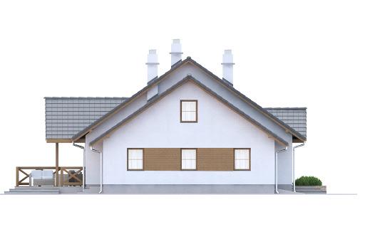 Groszek z garażem dach dwuspadowy opał stały - Elewacja lewa