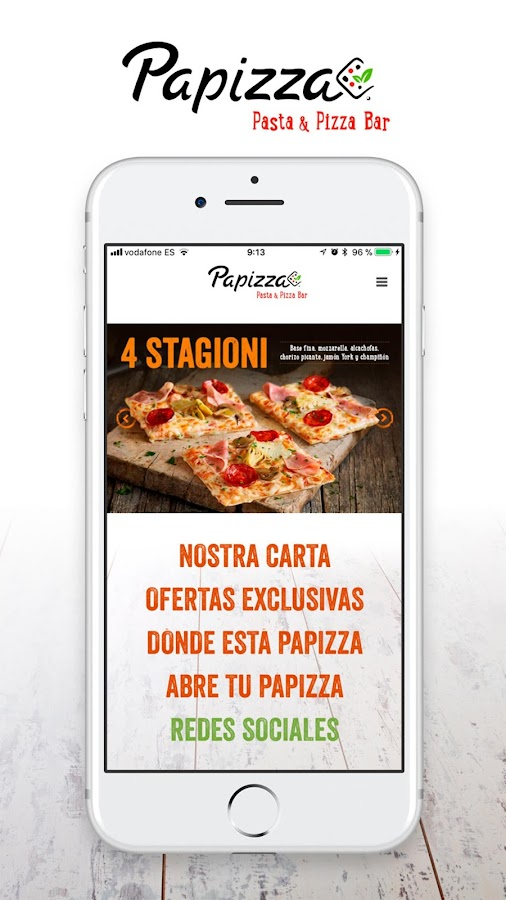 Papizza: captura de pantalla