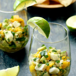 Halibut Ceviche with Mango and Avocado Recipe