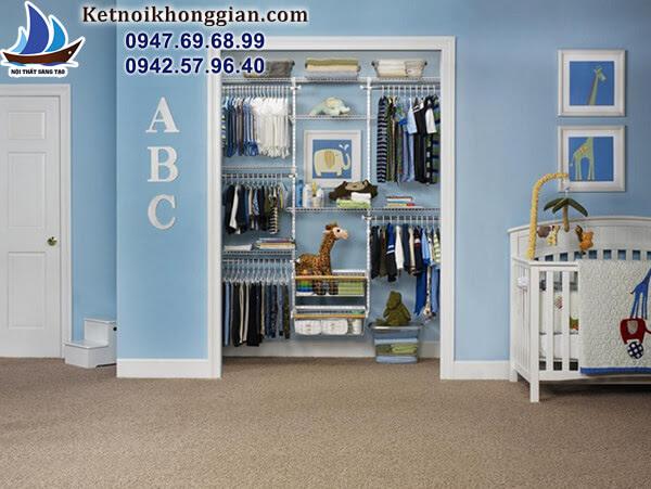 thiết kế tủ đồ cho bé