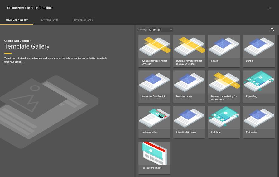 Using templates - Google Web Designer Help