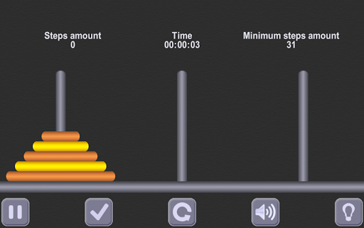 無料解谜Appのハノイの塔。古代の数学パズル /tower of Hanoi|記事Game