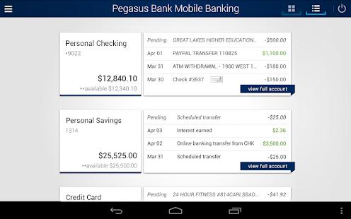 Pegasus Bank Mobile Banking- screenshot thumbnail