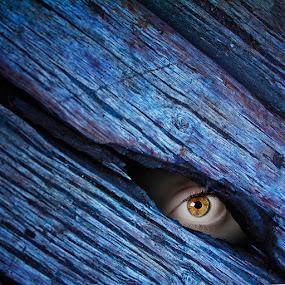 the eye by Yungki Dblur - Digital Art Abstract ( wood, texture, shadow, abstarct, art, conceptual, eye )