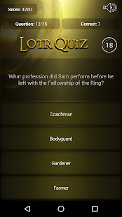 Trivia for Lord of the Rings - náhled