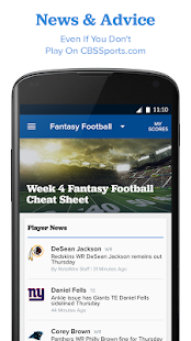 CBS Sports Fantasy Screenshot 3