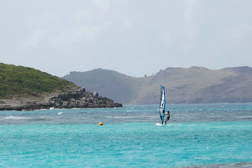 windsurfing-on-st-barts.jpg - Windsurfing on St. Barts.
