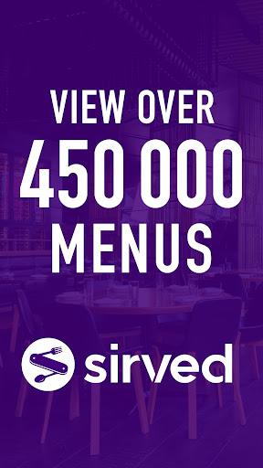 Sirved - Restaurant Menus 4.0.16 screenshots 1