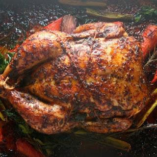 Maple Herb Glazed Roasted Chicken
