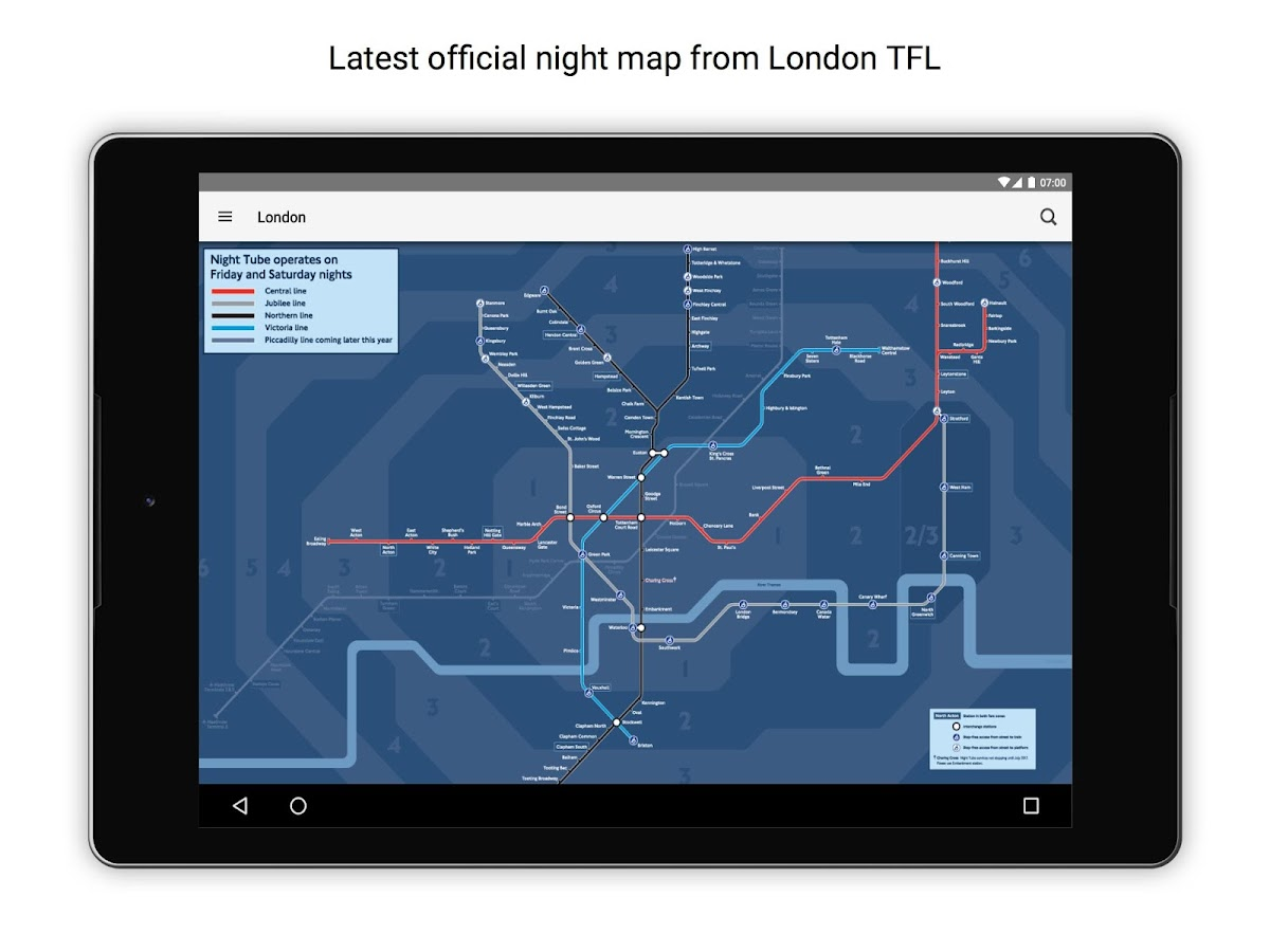Tube Map London Underground Android Apps On Google Play - Northern line map london