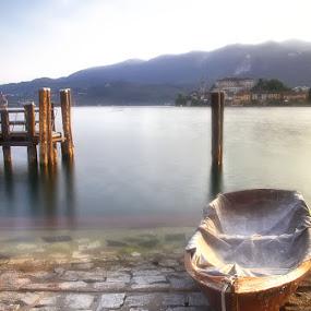 During My Sunday... by Cristina Casati - Landscapes Sunsets & Sunrises ( piedmont, ortalake, lake, landscape, italy, sundays )