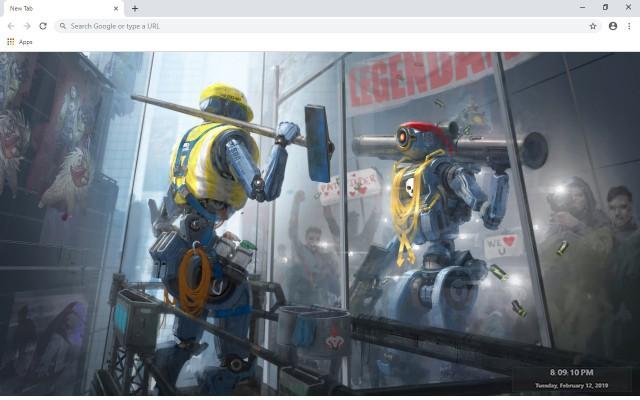 Apex Legends Pathfinder New Tab Theme