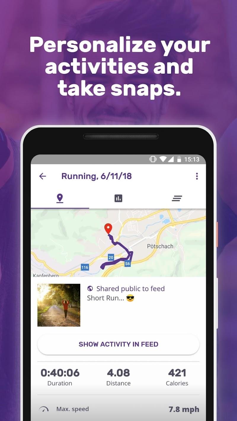 Running Weight Loss Walking Jogging Hiking FITAPP Screenshot 2