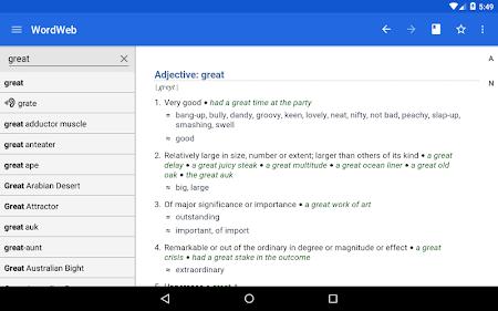 Dictionary - WordWeb 3.2 screenshot 222894