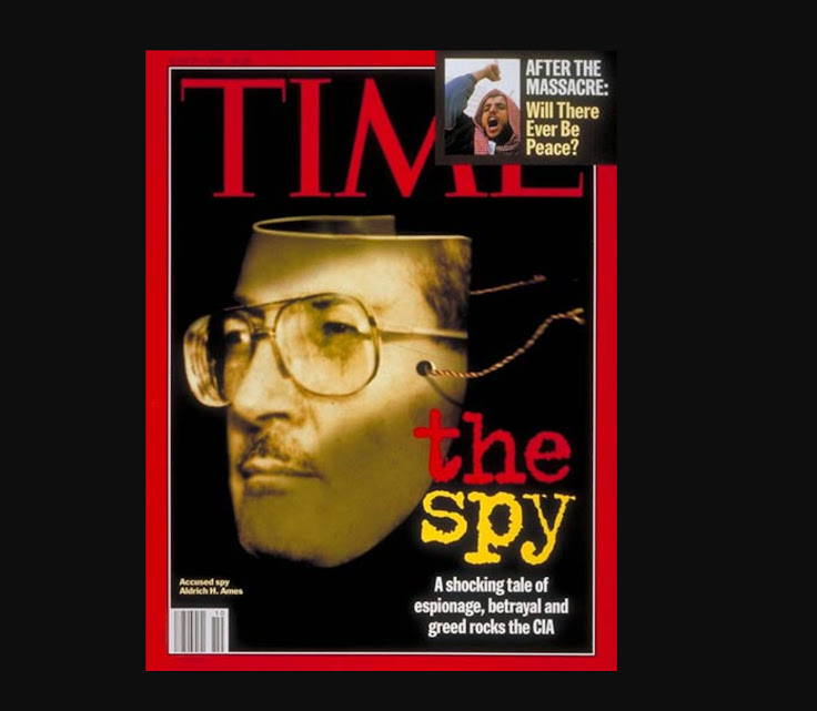 Ames on the cover of Time Magazine (March 7, 1994) after his arrest.