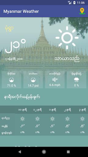 Myanmar Weather App 1.0 screenshots 3