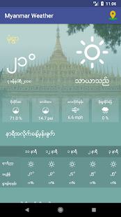 Myanmar Weather App - náhled