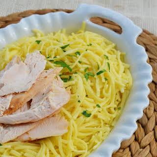 Buttered Egg Noodles.