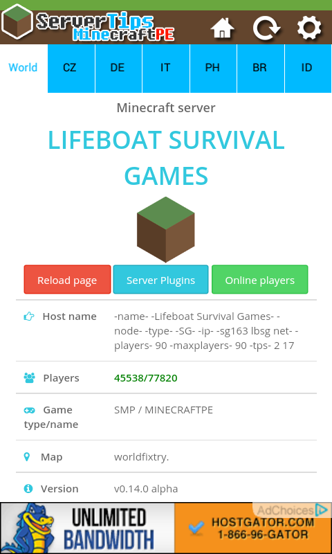 Minecraft Pocket Edition Servers