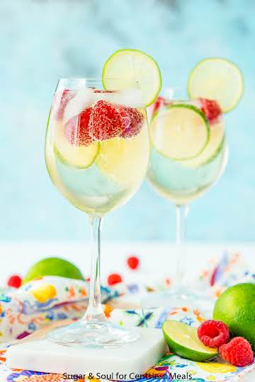 Raspberry Lime Wine Spritzer