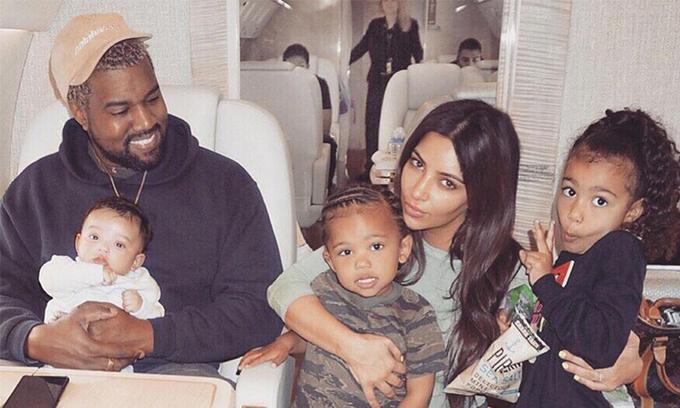 Kim Kardashian đăng ảnh chúc mừng sinh nhật Kanye West. Ảnh: Kim Kardashian Instagram.