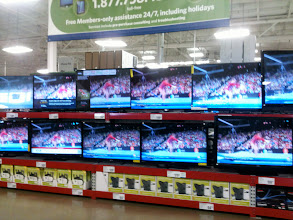 Photo: I love being greeted by the huge TV's when I walk in! It always reminds me how much I'd love to have one in my bedroom.